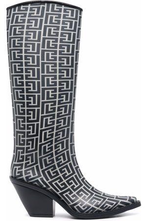 Balmain Tessa monogram boots