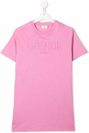 Fendi Embossed logo T-shirt dress