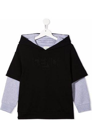 Fendi Embossed-logo hooded jumper