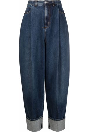 Alexander McQueen High-rise tapered jeans