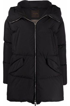 Moorer Women Puffer Jackets - Calliope hooded puffer jacket