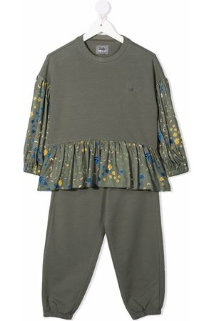 Il Gufo Floral-print long-sleeved jumpsuit