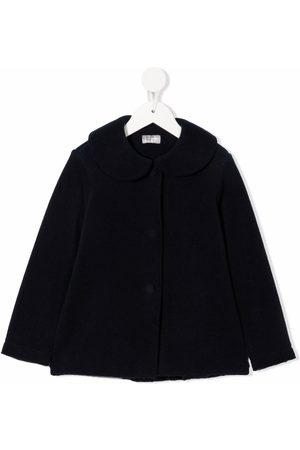 Il Gufo Girls Coats - Peter pan collar fleece coat