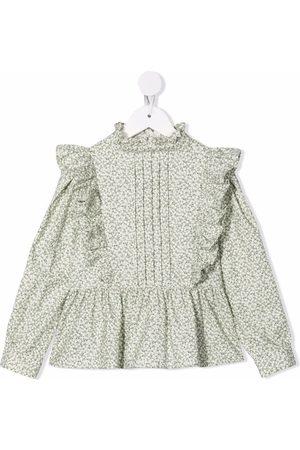 Il Gufo Floral ruffle blouse