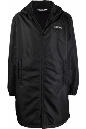 Valentino Logo-patch hooded coat