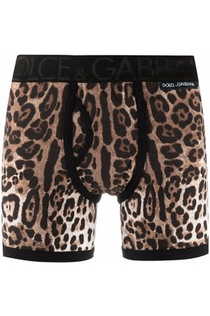 Dolce & Gabbana Men Boxer Shorts - Leopard-print briefs - Neutrals