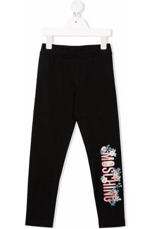 Moschino Kids Logo-print stretch-cotton leggings