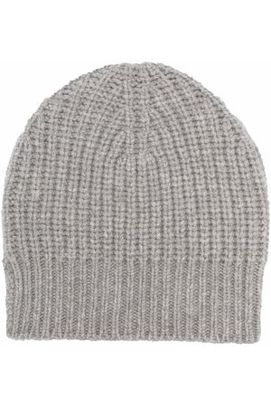 Ma'ry'ya Ribbed-knit cashmere-merino blend beanie - Grey