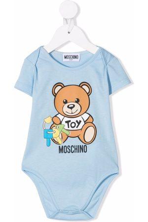 Moschino Kids Teddy bear key logo body