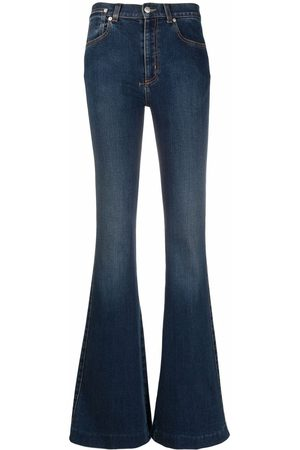 Alexander McQueen Women Flares - Mid-rise flared-leg denim jeans
