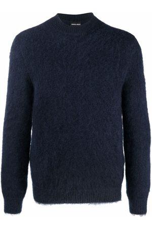 Giorgio Armani Long-sleeved mohair-blend jumper