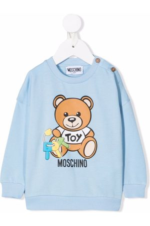 Moschino Kids Teddy bear logo-print sweatshirt
