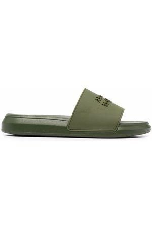 Alexander McQueen Men Sandals - Logo-embossed open-toe slides