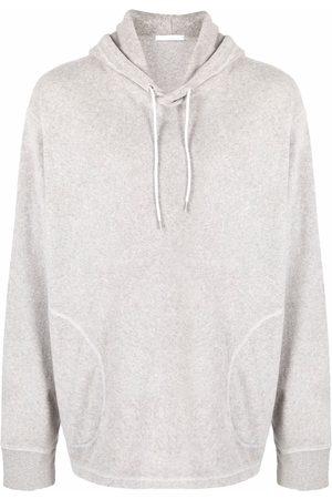 Helmut Lang Men Hoodies - Towel-effect hoodie - Grey