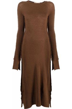 Marni Long-sleeved knitted maxi dress