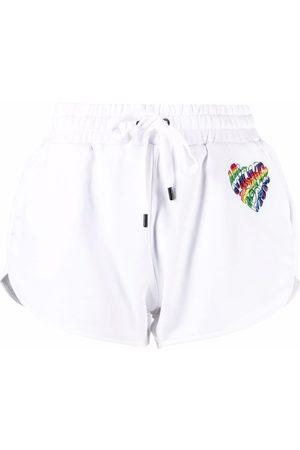 Michael Michael Kors Heart-embellished jersey shorts
