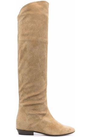 Isabel Marant Women Thigh High Boots - Suede knee-length boots - Neutrals
