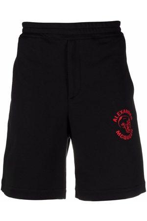 Alexander McQueen Logo skull-print shorts