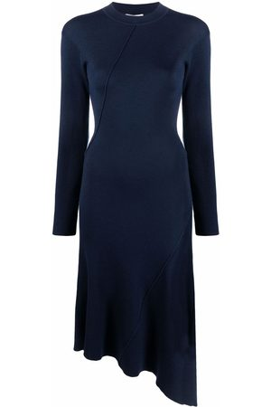 Kenzo Ribbed-knit asymmetric dress