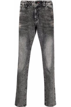 Philipp Plein Logo-plaque slim-fit jeans - Grey