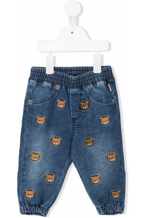 Moschino Kids Embroidered Teddy Bear jeans
