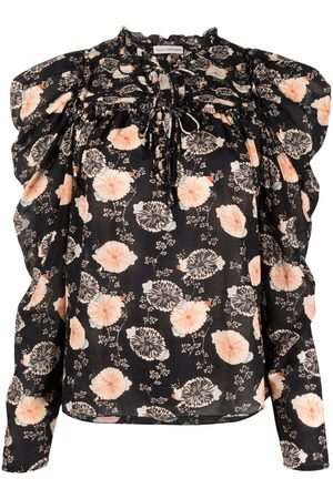 Ulla Johnson Garden-print ruffled blouse