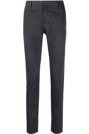 DONDUP Men Straight Leg Pants - Low-rise straight-leg trousers - Grey
