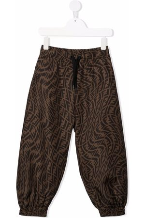 Fendi Kids FF Vertigo motif trousers