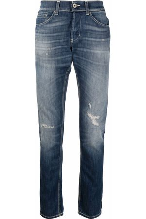 Dondup Men Straight - Low-rise distressed jeans