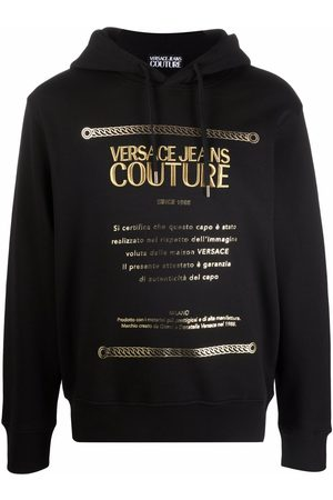 Versace Jeans Couture Logo-print cotton hoodie