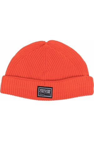 Versace Jeans Couture Men Beanies - Logo-patch knitted beanie