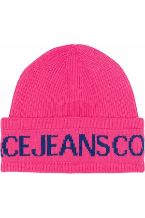 Versace Jeans Couture Logo-print knitted beanie