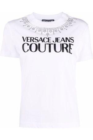 Versace Jeans Couture Women Short Sleeve - Logo-print short-sleeved T-shirt