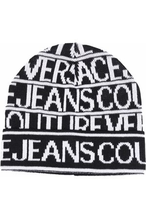 Versace Jeans Couture Men Beanies - Logo-print knitted beanie