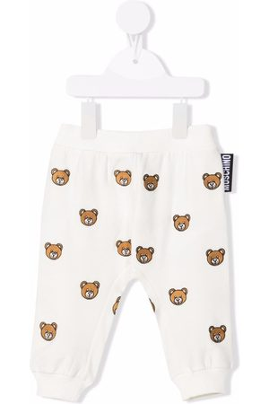 Moschino Kids Teddy Bear-embroidered track trousers