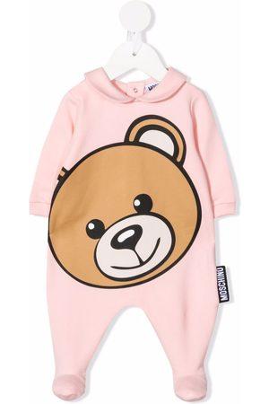 Moschino Kids Large teddy head pyjamas