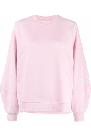 GANNI Logo-print crewneck sweatshirt