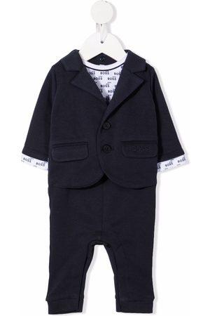 BOSS Kidswear Blazer-style logo babygrow