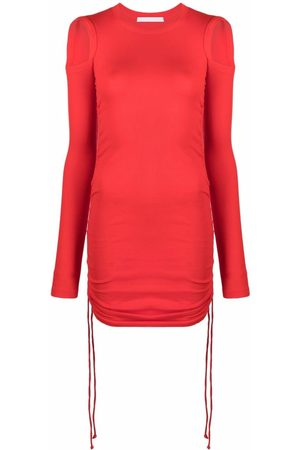 Helmut Lang Cut-out fitted short dress
