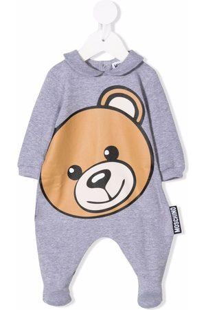 Moschino Kids Large teddy head pyjamas - Grey