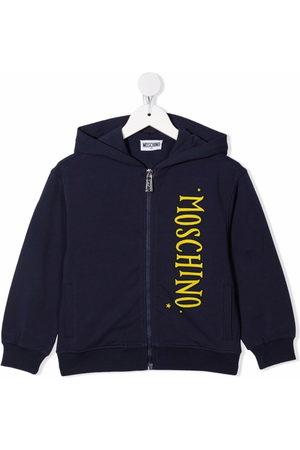 Moschino Kids Logo-print zip-up hoodie