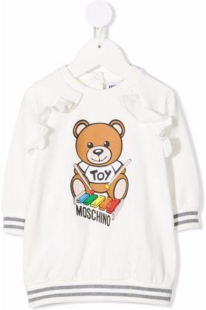 Moschino Kids Ruffled xylophone teddy dress