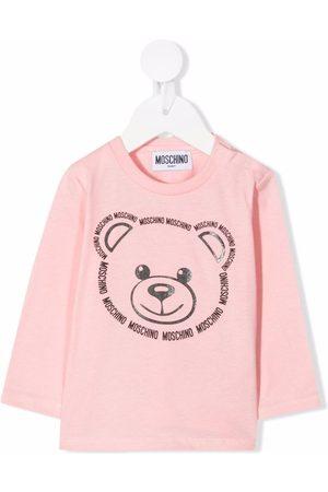 Moschino Kids Logo-trim teddy bear top