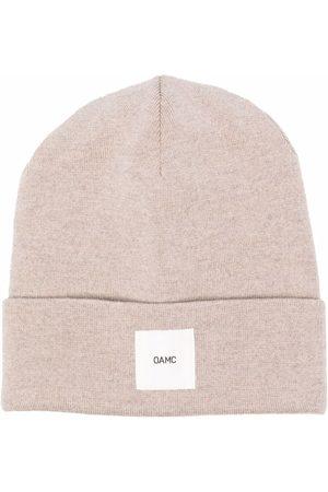 OAMC Logo-patch wool beanie - Neutrals