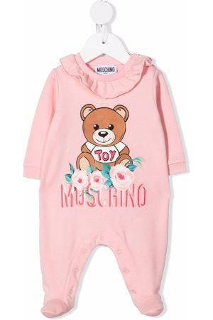 Moschino Kids Floral teddy bear pajamas