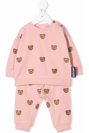 Moschino Kids Teddy bear-embroidery cotton tracksuit