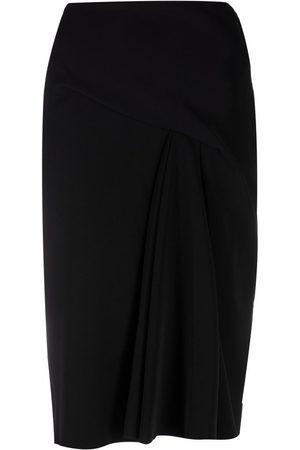 VERSACE Pinch-pleat A-line skirt