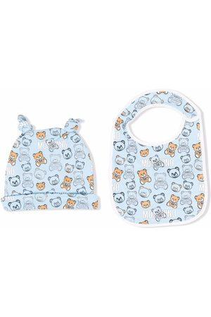 Moschino Kids Teddy bear print hat set