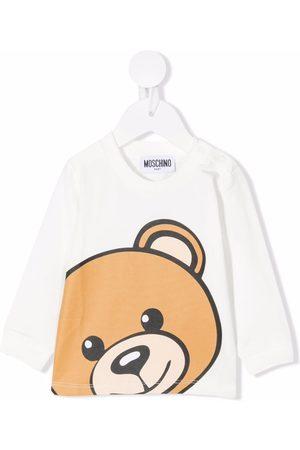 Moschino Kids Teddy bear print jumper