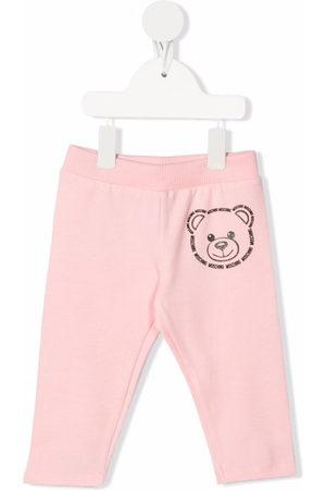 Moschino Kids Sports Pants - Teddy bear print tracksuit bottoms